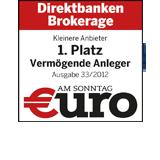 1. Platz in Zeitschrift €uro